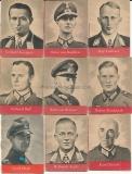 9 WHW Heftchen Ritterkreuzträger Heer Luftwaffe Waffen SS Wehrmacht Offiziere