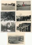 11 Fotos Waffen SS Soldaten Gräber Eisenbahn Kübelwagen Tarnuniform Sturmgeschütz Uniform usw.
