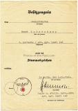 Sturmabzeichen Besitzzeugnis für einen Obergefreiten im Artillerie Regiment 146 - 16. Infanterie Division