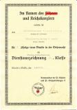 Vorläufiges Besitzzeugnis Kriegsverdienstkreuz 2. Klasse mit Schwertern und Urkunde zur Dienstauszeichnung IV. Klasse Fliegerersatzabteilung 14 Detmold