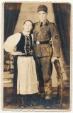 SS Mann der Waffen Gebirgs Division SS Handschar - Atelier Portrait Szaszregen