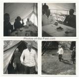 4 Fotos Generalfeldmarschall Kesselring hat General von Seidel zu Gast im Osten - Ritterkreuzträger der Luftwaffe