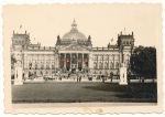 Reichstag Berlin with swastika flags