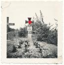 Soldaten Grab Uffz Julius Buhsler Fz.Btl. 3 gefallen 7.7.1941
