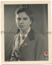Pass Portrait weiblicher Reichsarbeitsdienst RAD