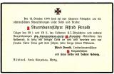 Sterbeanzeige Todesanzeige des SS Sturmbannführer Alfred Arnold gefallen 1944 in Ostpreussen und 2 Fotos des Vaters SS Brigadeführer Alfred Arnold