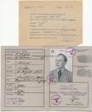 EK II Urkunde Besitzzeugnis Panzerkampfabzeichen in Bronze Todesbenachrichtigung Kurland 1945 und Kennkarte eines Panzergrenadier im Pz. Gren. Reg. 103
