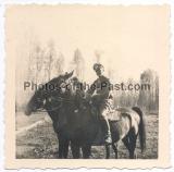 Ritterkreuzträger des Heeres auf einem Pferd
