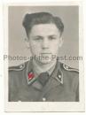 Pass Portrait Waffen SS Unterscharführer