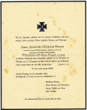 Besitzzeugnis Sturmabzeichen und Sterbebrief für einen Leutnant im Artillerie Reg. 293 Unterschrift Div. Kdr. Generalleutnant Justin von Obernitz