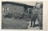 Ritterkreuzträger Major Ludwig Bulla in Splittertarn Jacke Kommandeur Flak Regiment 164 Luftwaffe Deutsches Kreuz in Gold Träger
