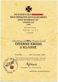 2 Urkunden EK II und Ostmedaille und 1 Besitzzeugnis Verwundetenabzeichen in Silber eines Stalingrad Kämpfers vom Grenadier Regiment 518 - 295. Infanterie Division