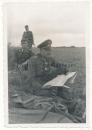 Generalmajor mit Ritterkreuz an der Front