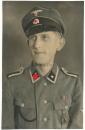 Portrait in Farbe Waffen SS Unterscharführer - Atelier Studio Marienbad Tschechien