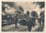 Foto Ansichtskarte Postkarte - Unsere Waffen SS - Ein Dorf ist genommen !