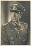 Ritterkreuzträger des Heeres - Portrait Foto General der Artillerie Walther Lucht mit original Unterschrift - Artilleriekommandant Legion Condor - Deutsches Kreuz in Gold Träger