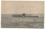 Deutsches U Boot auf dem Weg in die Internierung nach England 1918