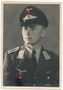 Portrait Flugzeugführer Offizier der Luftwaffe