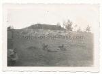 Bunker Stalin Linie Maxim MG Maschinengewehr Lafetten