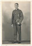 Portrait Waffen SS Oberscharführer cuff title GERMANIA